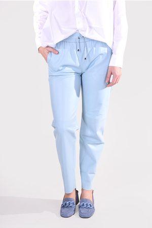 Suite 22 Dames Leren broeken - Broek Chooki blauw