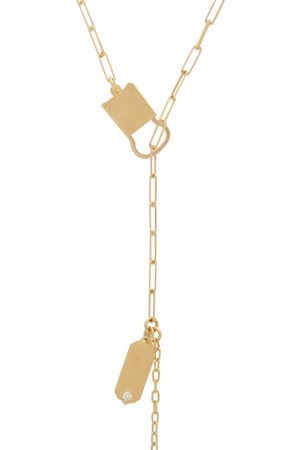 Jade Trau Dames Kettingen - Betty Diamond & 18kt Gold Necklace - Womens - Gold