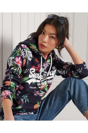 Superdry Dames Truien - Vintage Logo hoodie met all-overprint