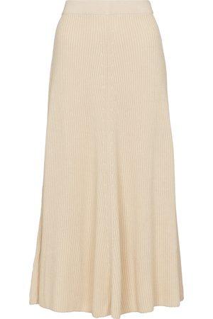 Joseph Ribbed-knit cotton midi skirt