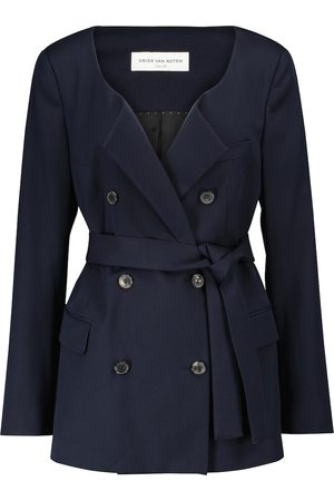 DRIES VAN NOTEN Belted double-breasted blazer