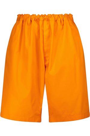 Balenciaga Dames Shorts - Mid-rise cotton twill wide-leg shorts