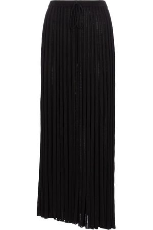 CHRISTOPHER ESBER Pleated knit midi skirt