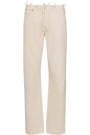 Maison Margiela Distressed mid-rise straight jeans