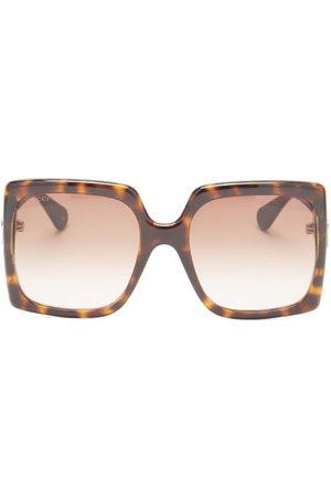 Gucci GG-logo Oversized Square Acetate Sunglasses - Womens - Tortoiseshell