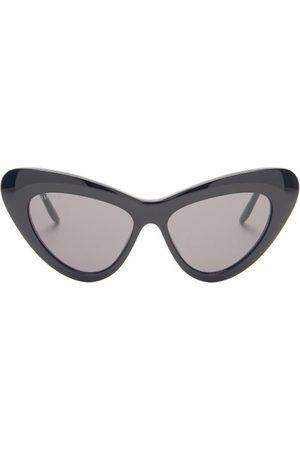 Gucci GG-logo Cat-eye Acetate Sunglasses - Womens - Black