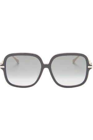 Gucci Horsebit Butterfly Acetate Sunglasses - Womens - Black