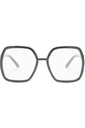 Gucci Oversized Square Acetate Glasses - Womens - Black
