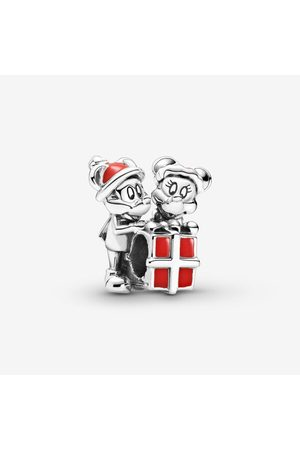 PANDORA Dames Sieraden - Disney Mickey Mouse and Minnie Mouse Present Charm, Sieraden uit Sterling zilver, No stone, , 799194C01