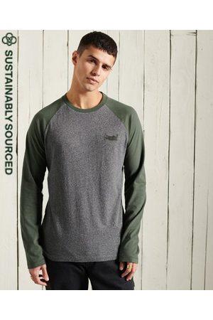 Superdry Heren Shirts - Orange Label Baseballshirt