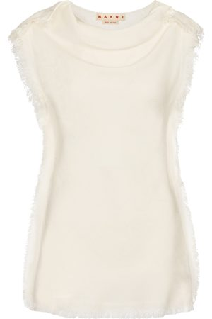 Marni Fringed sleeveless top