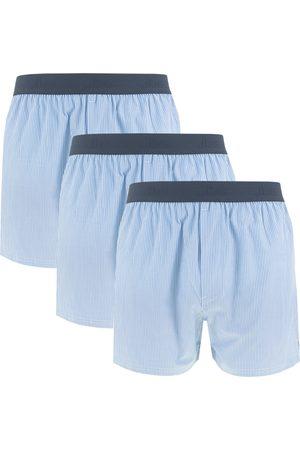 JBS Heren Boxershorts - Boxershorts woven boxers 3-pack && wit