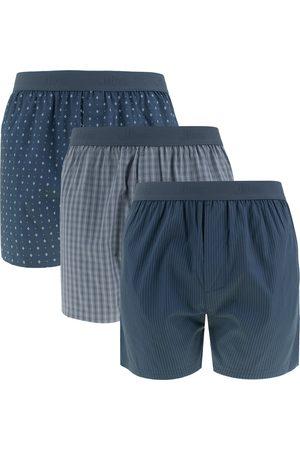 JBS Heren Boxershorts - Boxershorts woven boxers 3-pack blauw && grijs