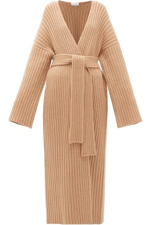 Raey Dames Cardigans - Belted Ribbed-knit Cashmere Maxi Cardigan - Womens