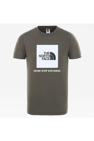 The North Face Dames Shirts - The North Face Youth Box T-shirt New Taupe Green/tnf White Größe L Dame
