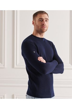 Superdry Heren Truien - Lichtgewicht trui met ronde hals van merinowol