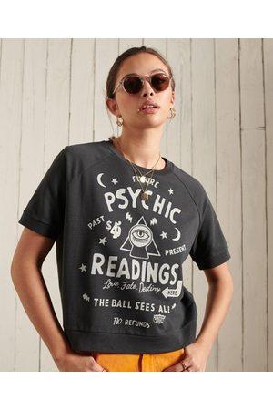 Superdry Kort Workwear T-shirt van sweatstof met ronde hals