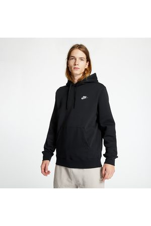 Nike Heren Sweaters - Sportswear Club Fleece Pullover Hoodie Black/ Black/ White