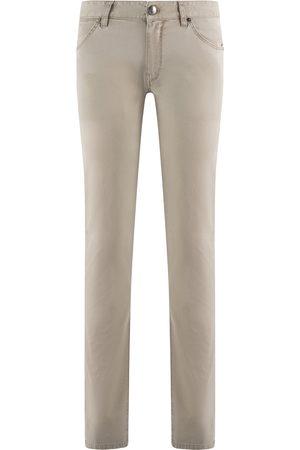 Pt, Heren Pantalons - Pantaloni Torino 5-pocket Heren Taupe Cotton
