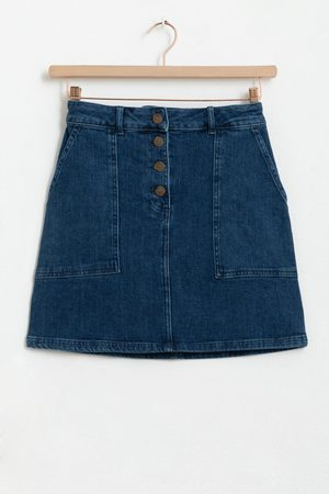 Sissy-Boy Dames Korte & Mini rokken - Denim mini skirt met knopen
