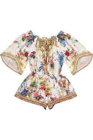 Camilla Floral cotton playsuit