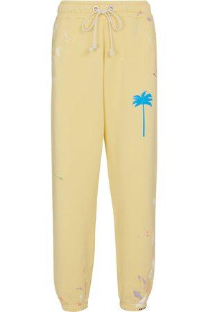 Palm Angels Printed cotton jersey sweatpants