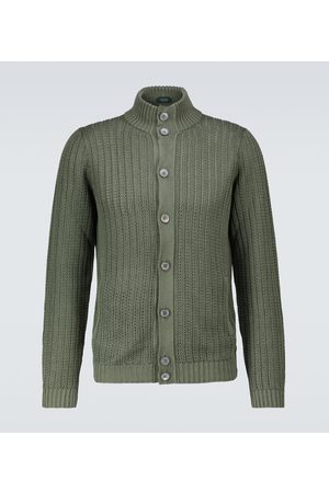 ZANONE Linen and cotton cardigan