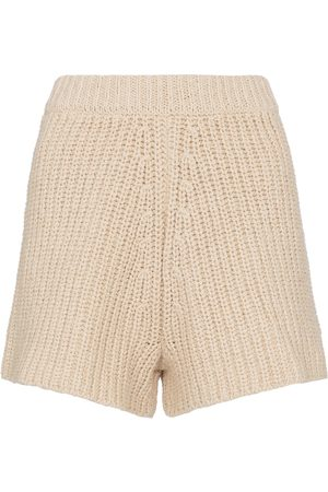 Alanui High-rise crochet shorts