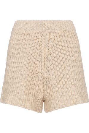 Alanui High-rise crochet shorts