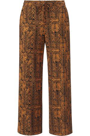 Green Cotton Dames Broeken - Enkellange broek 100% katoen zigzag-print Van