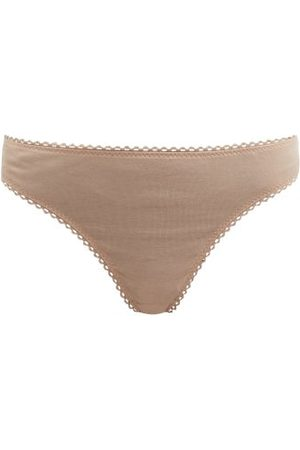 Araks Stella Organic-cotton Thong - Womens - Nude