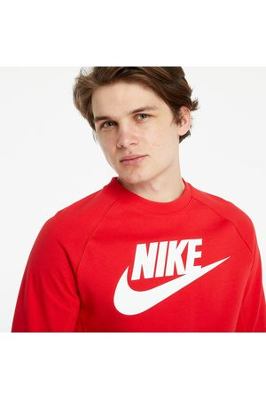 Nike Heren Sweaters - Sportswear Fleece Crew University Red/ White