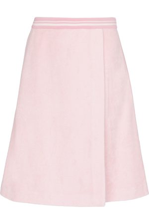 Miu Miu Dames Midi rokken - High-rise cotton-blend midi skirt