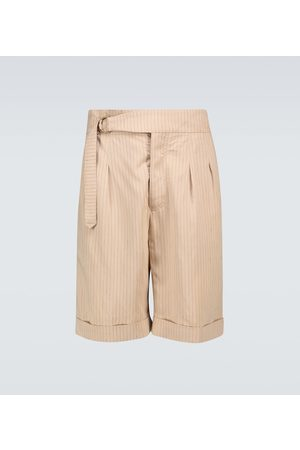 Nanushka Heren Shorts - Nagi striped belted shorts