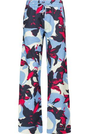 DRIES VAN NOTEN Printed cotton sweatpants