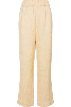 CO Dames Wijde broeken - Wide-leg linen-blend pants