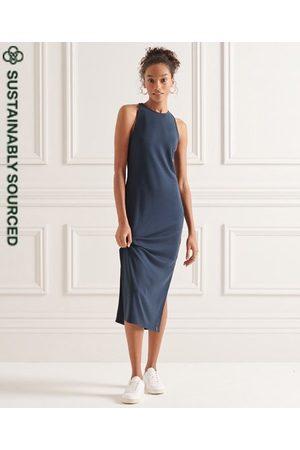Superdry Tencel midi-jurk met bandjes op de rug