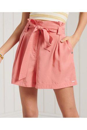 Superdry Dames Shorts - Desert Paper Bag shorts