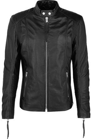 Tigha Heren Leren jassen - Heren Leren jas Bennet zwart (black)