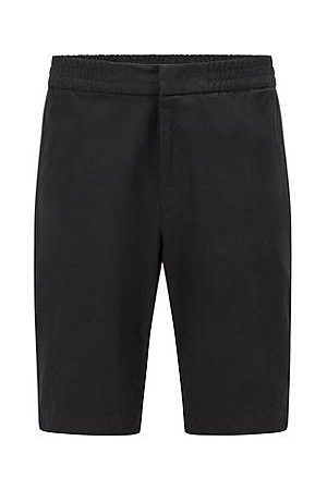 HUGO BOSS Slim-fit shorts in bi-stretchtwill van een katoenmix