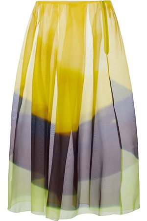 DRIES VAN NOTEN Dames Midi rokken - Striped silk organza midi skirt