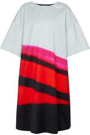 DRIES VAN NOTEN Dames Midi jurken - Striped satin midi dress