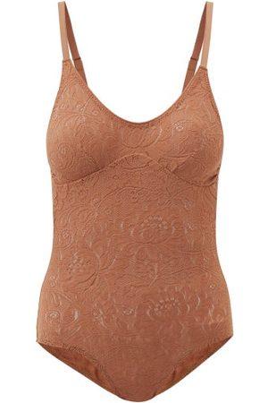 Araks Wen Lace Bodysuit - Womens - Brown