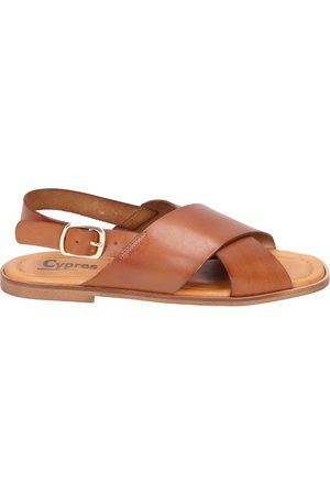 Cypres Dames Sandalen - Merlin Brown Leather
