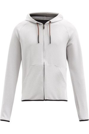 Cafe du Cycliste Heren Sweaters - Solenne Jersey Hooded Sweatshirt - Mens - Grey
