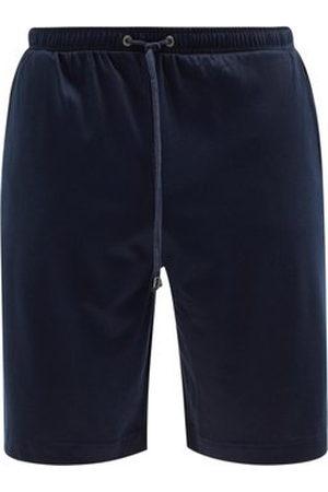 Zimmerli Drawstring Cotton-blend Jersey Pyjama Shorts - Mens - Navy