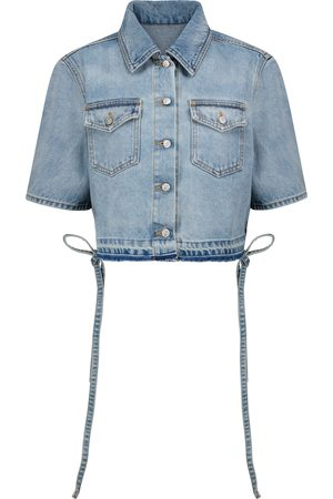 OFF-WHITE Cropped denim shirt