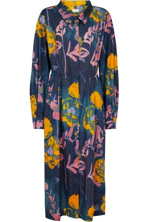 DRIES VAN NOTEN Dames Geprinte jurken - Printed cotton midi dress