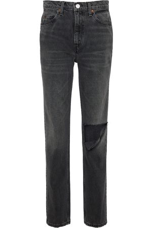 RE/DONE Dames Slim - 70s distressed mid-rise slim jeans