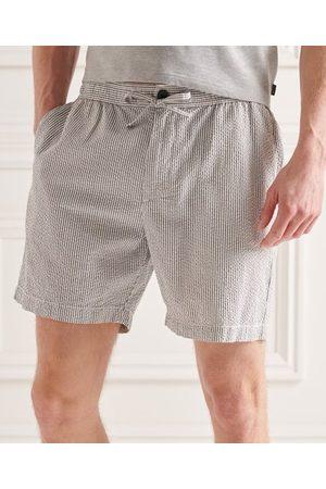 Superdry Heren Shorts - Seersucker short met trekkoord